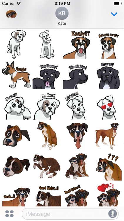 BoxerMoji - Boxer Emoji & Sticker screenshot-4