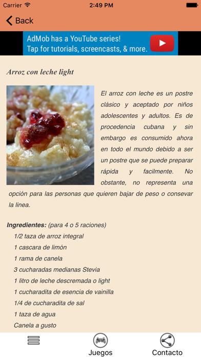 Recetas de Postres Dietéticos screenshot three