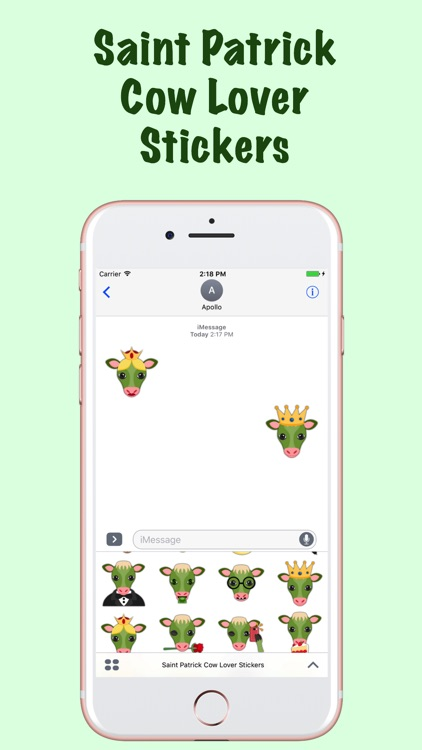 Saint Patrick Cow Lover Stickers screenshot-0