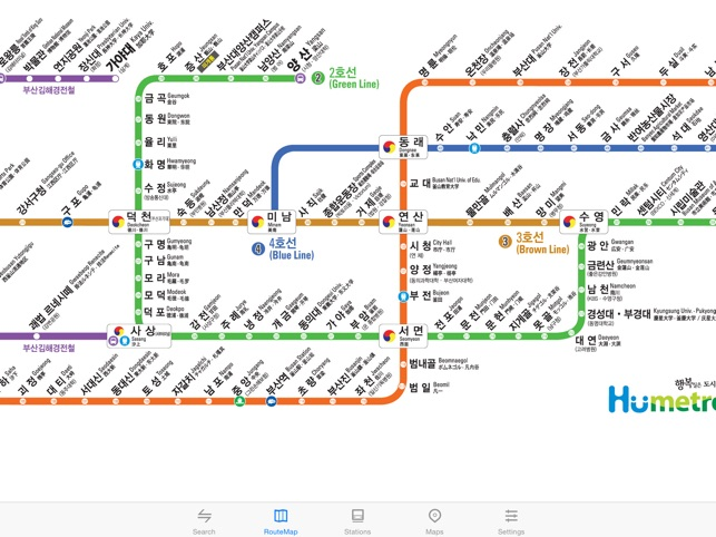 Subway Map Of Busan.Metro Busan Subway On The App Store