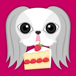 White Japanese Chin Stickers for iMessage