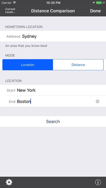 Distance Comparison Map Pro