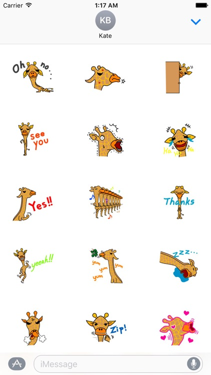 Gently Giraffe Sticker