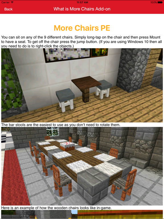 Furniture Addon For Minecraft PE One Touch Install | App Price Drops