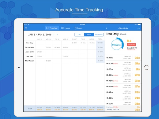 hours keeper pro timesheet tracking billing app price drops