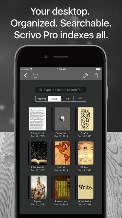 Scrivo Pro− Scrivener Writers screenshot-3