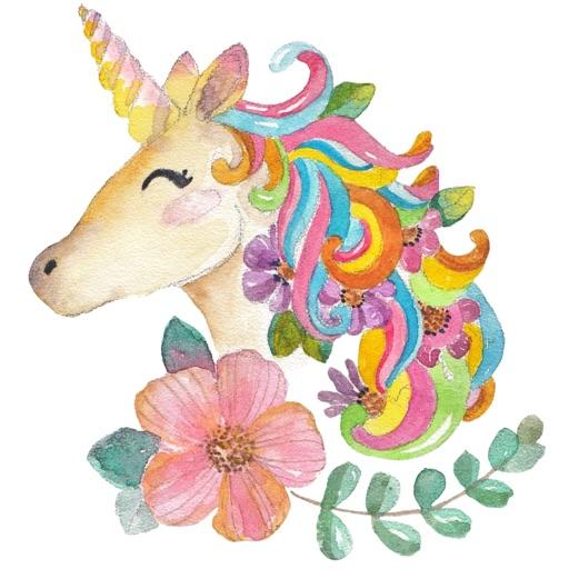 Watercolor Unicorn Sticker Pack