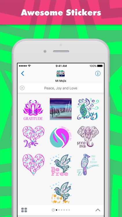 Peace, Joy And Love stickers by MI Mojis