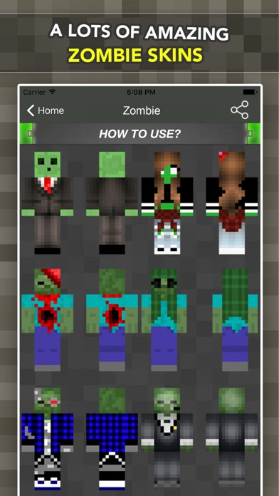 New Zombie Skins For Minecraft Pocket Edition App App Store - Skins para minecraft pe de dragon ball z