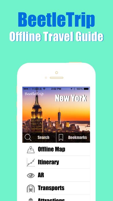 New York travel guide offline city metro train map