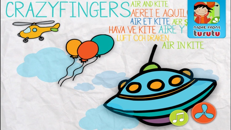 Turutu Crazyfingers - Aeroplanes and kites