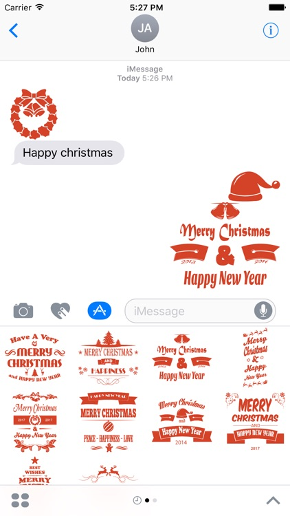Christmas & New year 2017 Stickers