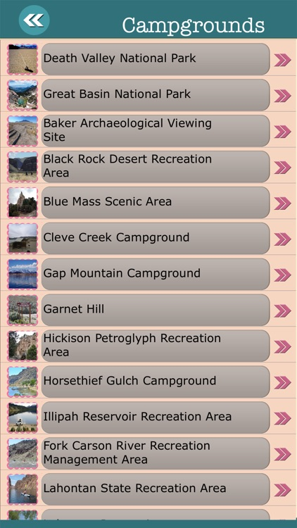 Nevada State Campgrounds & Hiking Trails