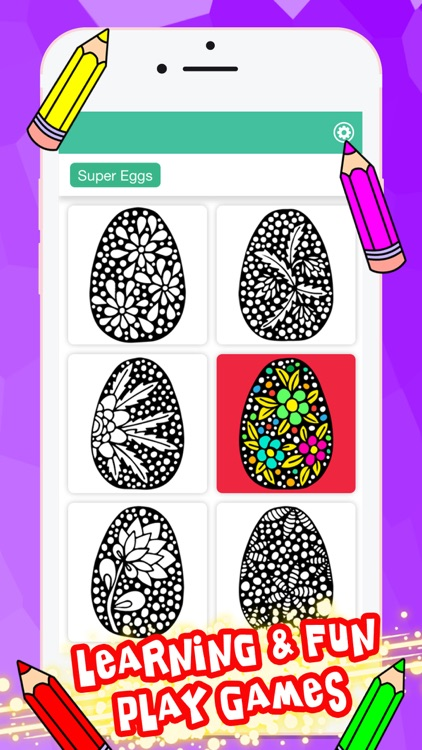 Mandala Coloring Book Easter Eggs For Adults