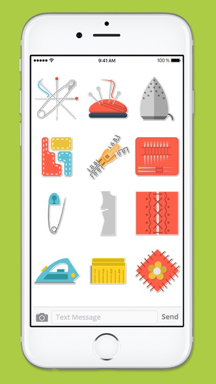 Crafty Hobby Sewing Icons Sticker Pack screenshot-3