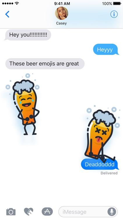 Beer Emoji Stickers