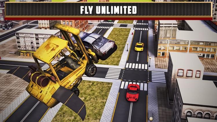 Flying Truck Junkyard Parking screenshot-3