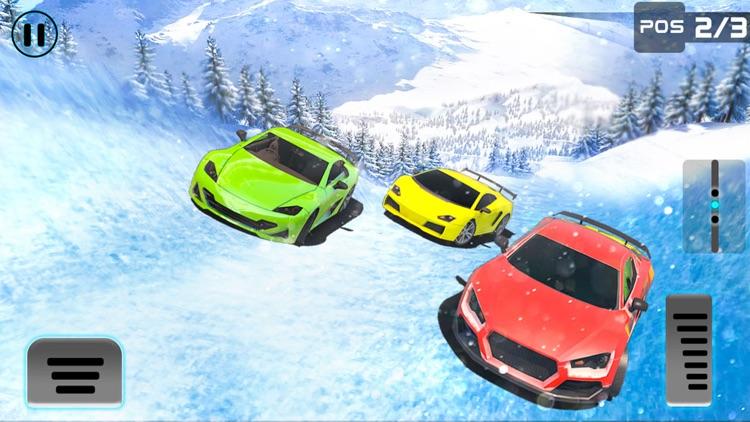 Frozen Water Slide Car driving simulator screenshot-3