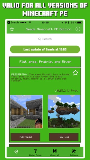Seeds for Minecraft Pocket Edition - Free Seeds PE on the