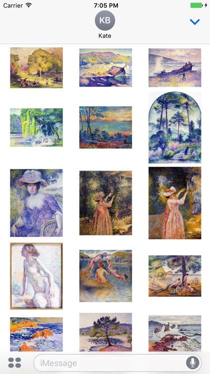 Henri Edmond Cross Artworks Stickers