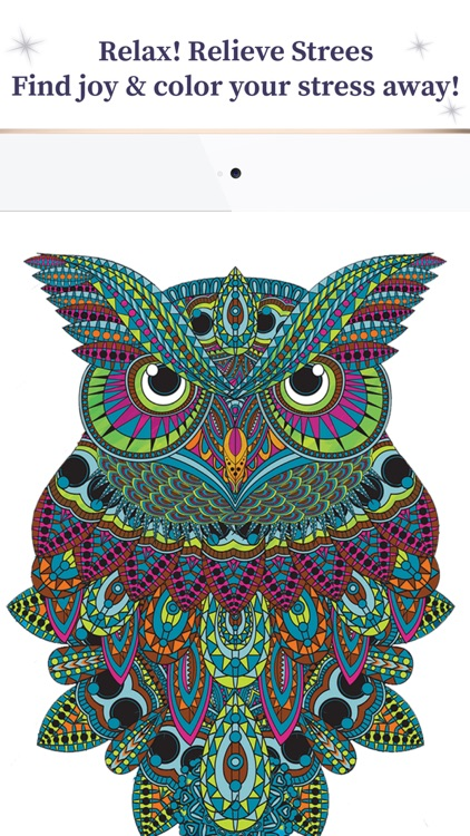 Adults Coloring Book Anti Stress Relief Therapy