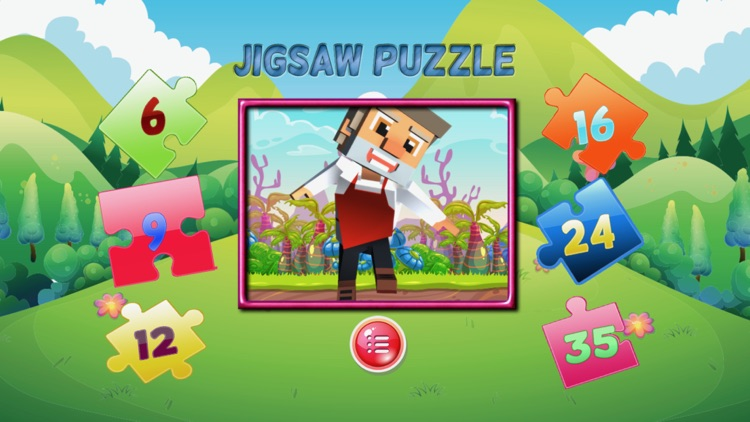 cartoon jigsaw puzzle learning game for kid 4 year