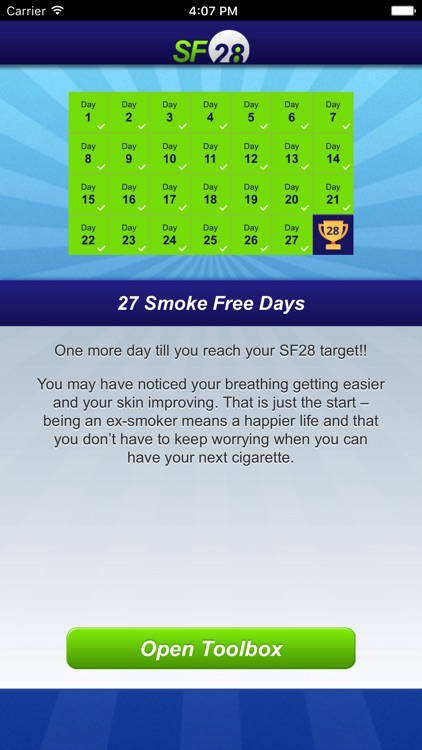 Smoke Free 28 (SF28) Quit Smoking