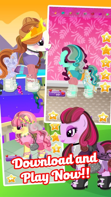 Fun Pony Baby Pet Dress Up Games For Girls & Kids screenshot-3