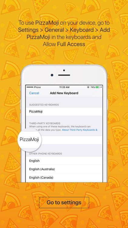 PizzaMoji - pizza stickers and emojis keyboard app screenshot-3