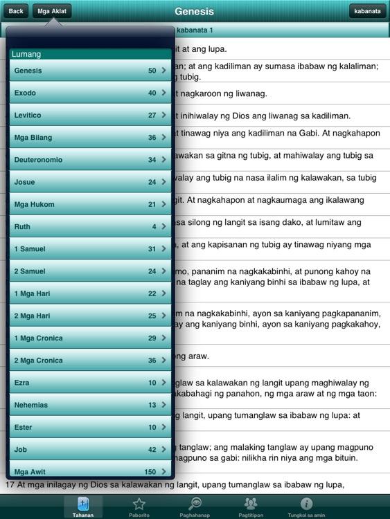 Holy Bible in Filipino for iPad screenshot-3
