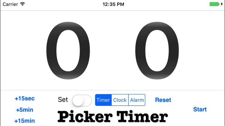 Picker Clock - an adjustable timer