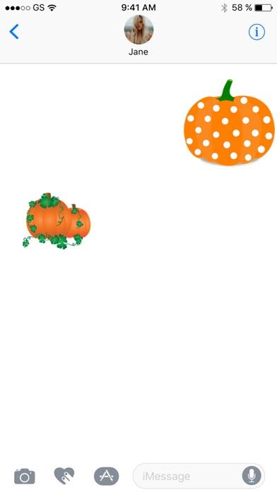 Halloween-Kürbis Sticker PackScreenshot von 2