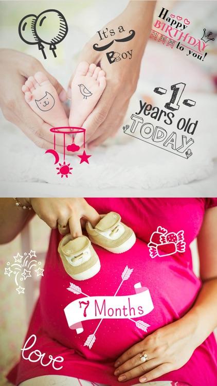 Baby Photo Story - Pregnancy Milestones Camera screenshot-3