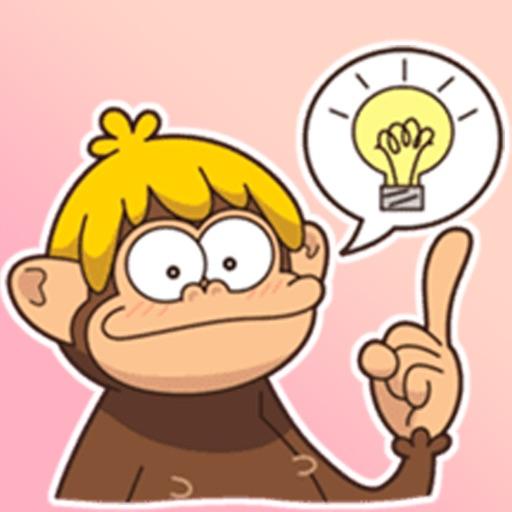 Adventurous Monkey Stickers
