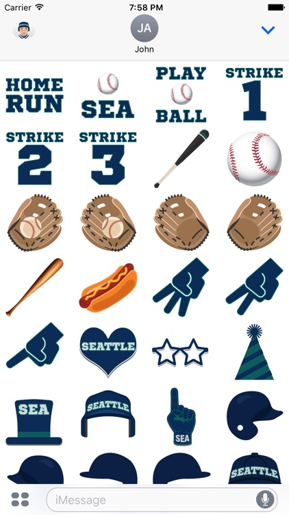 Seattle Baseball Stickers & Emojis screenshot-3