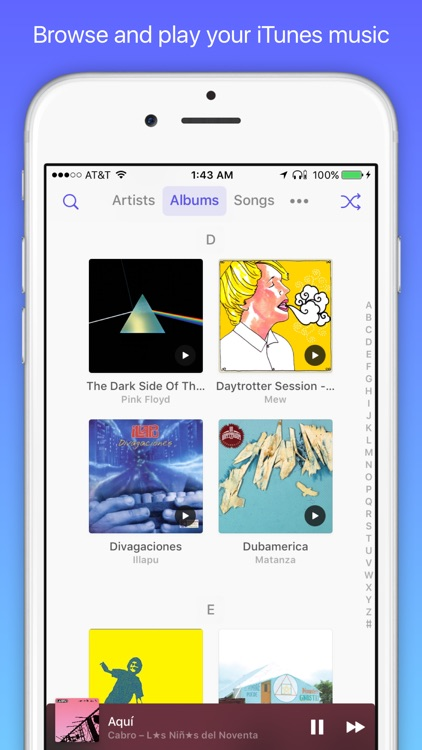 Doppi, a simple music player