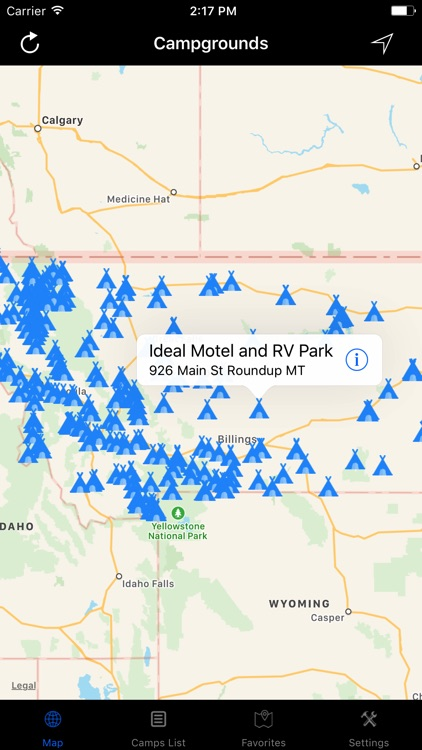 Montana – Campgrounds & RV Parks screenshot-0