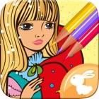 Libro Para Colorear Princesas Pintar Y Colorear icon