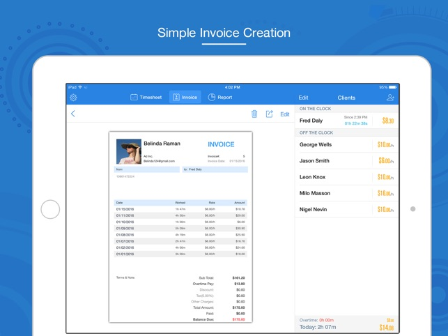 hours keeper pro timesheet tracking billing on the app store