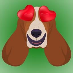Basset Hound Emojis & Stickers
