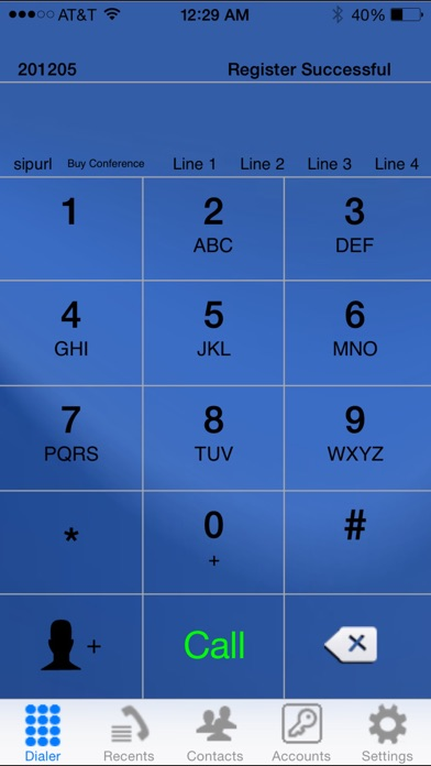 iSip -VOIP Sip Phone screenshot1