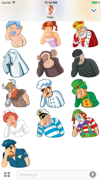 Facepalm Stickers for iMessage