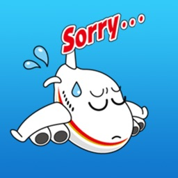 Sory Airline Funny Stickers