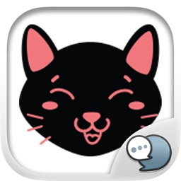 Black Cat Feeling Emotion Sticker for iMessage