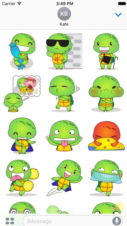 Pura the funny turtle 7 for iMessage Sticker