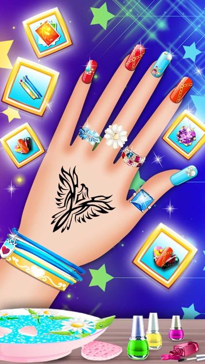 Princess Nail Art Salon - Girls Makeup Game