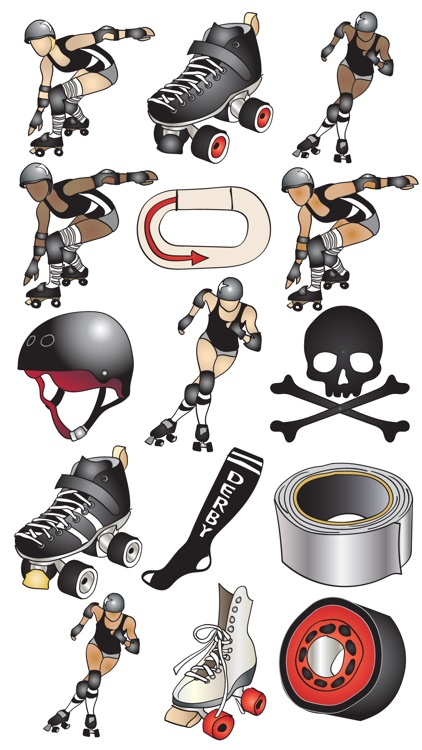Roller Derby Stickers screenshot-0