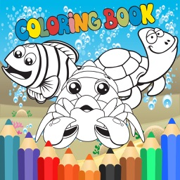 Fun Sea Animal Coloring Book Games for Kids