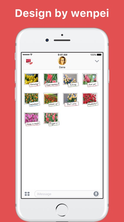 Beautiful Tulips stickers by wenpei