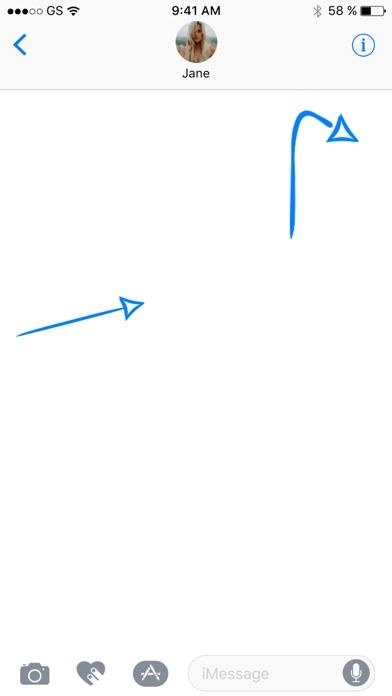 青い矢印ステッカーパックのスクリーンショット3